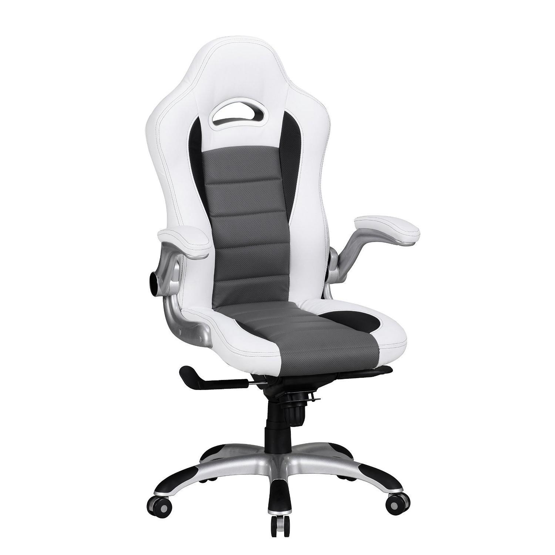 NorisDesign Chaise De CuirBlanc Bureau 8hEn GamerUtilisation 6ybY7gf