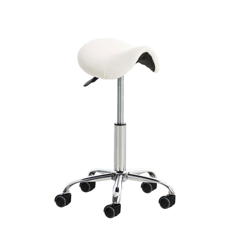 Nouvelles Arrivées 2fdc8 9e089 Tabouret de travail RESO, Forme ergonomique, Grand Rembourrage, en cuir,  Blanc