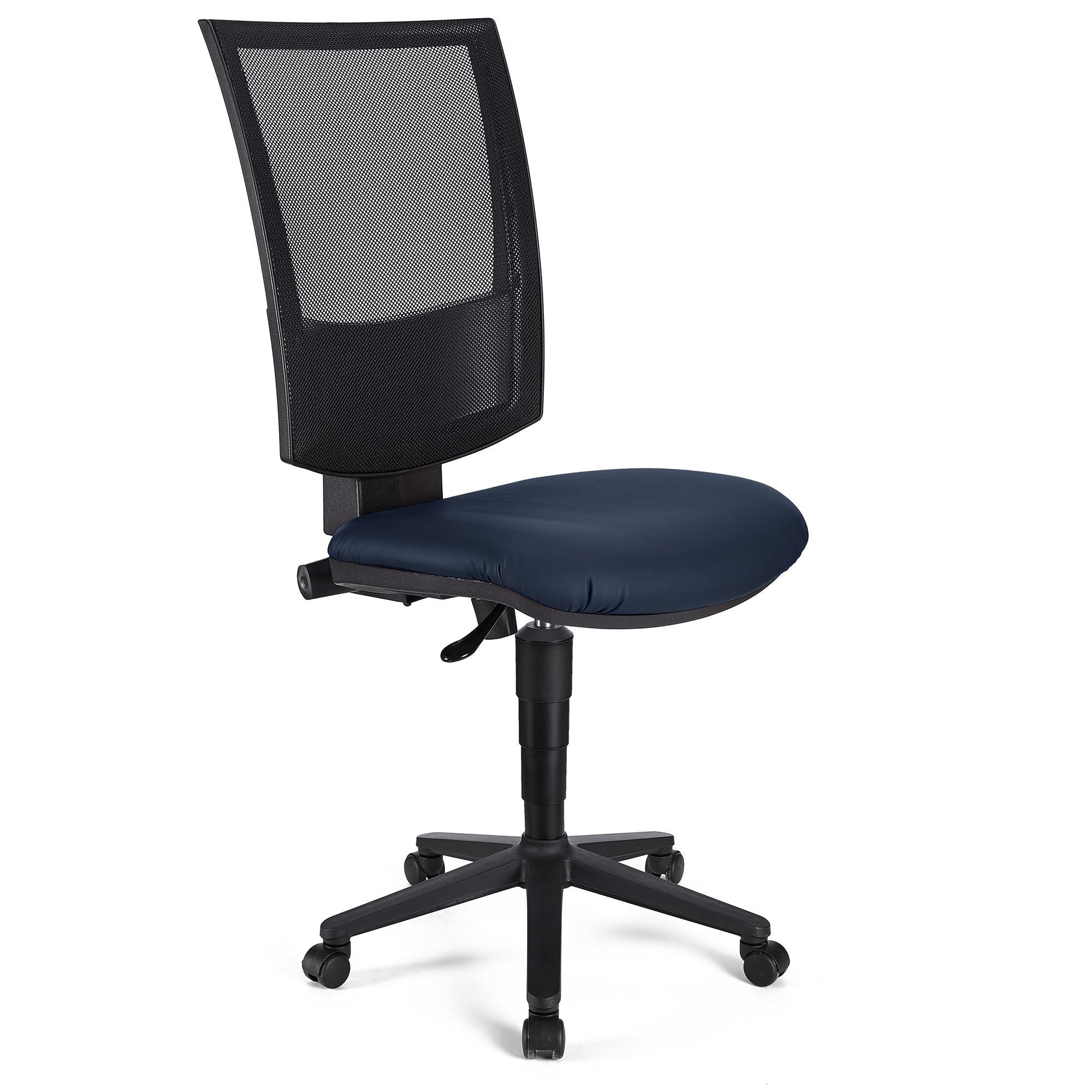 Chaise De Bureau Pandora Sans Accoudoirs Cuir Dossier Ajustable