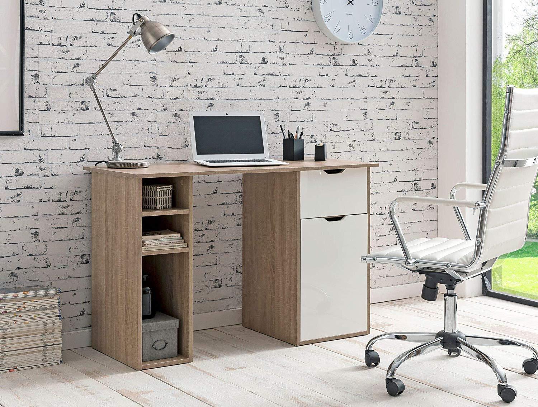 Bureau informatique kaleb dimensions 115x50x75 5 cm en bois