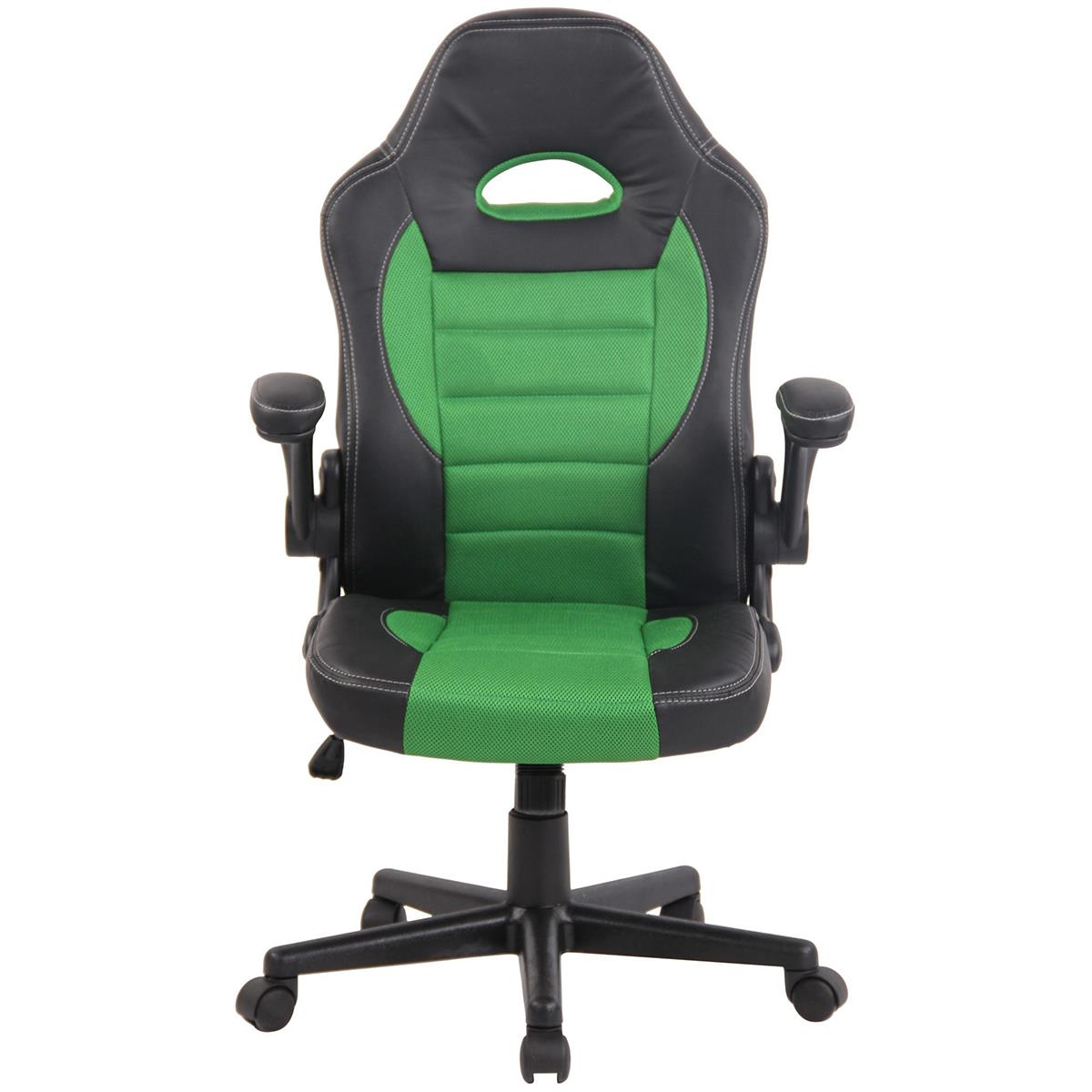 Chaise Gamer Et LotusAccoudoirs RelevablesCuir RespirableVert Maille 29HEDI