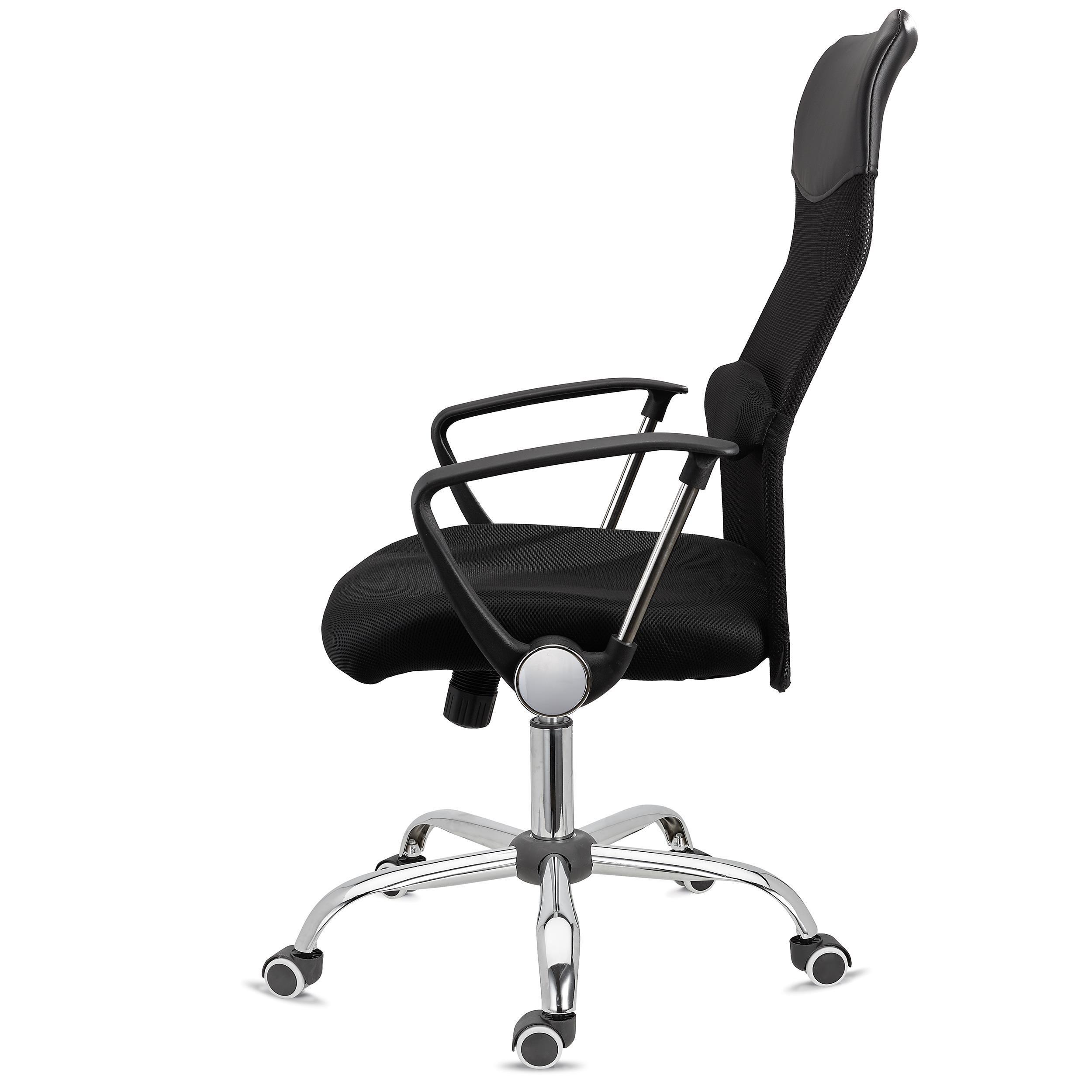vente chaude en ligne e2bdd 3a78a Chaise de bureau ASPEN, Maille Respirable et cuir, assise rembourrée, Prix  incroyable, Noir