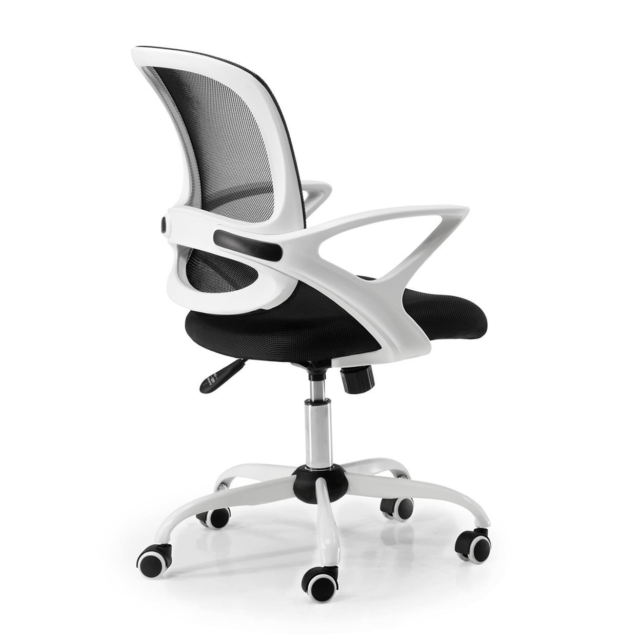 Bureau En De JacobStructure ModerneTissuNoir Chaise BlancDesign mnw80Nv