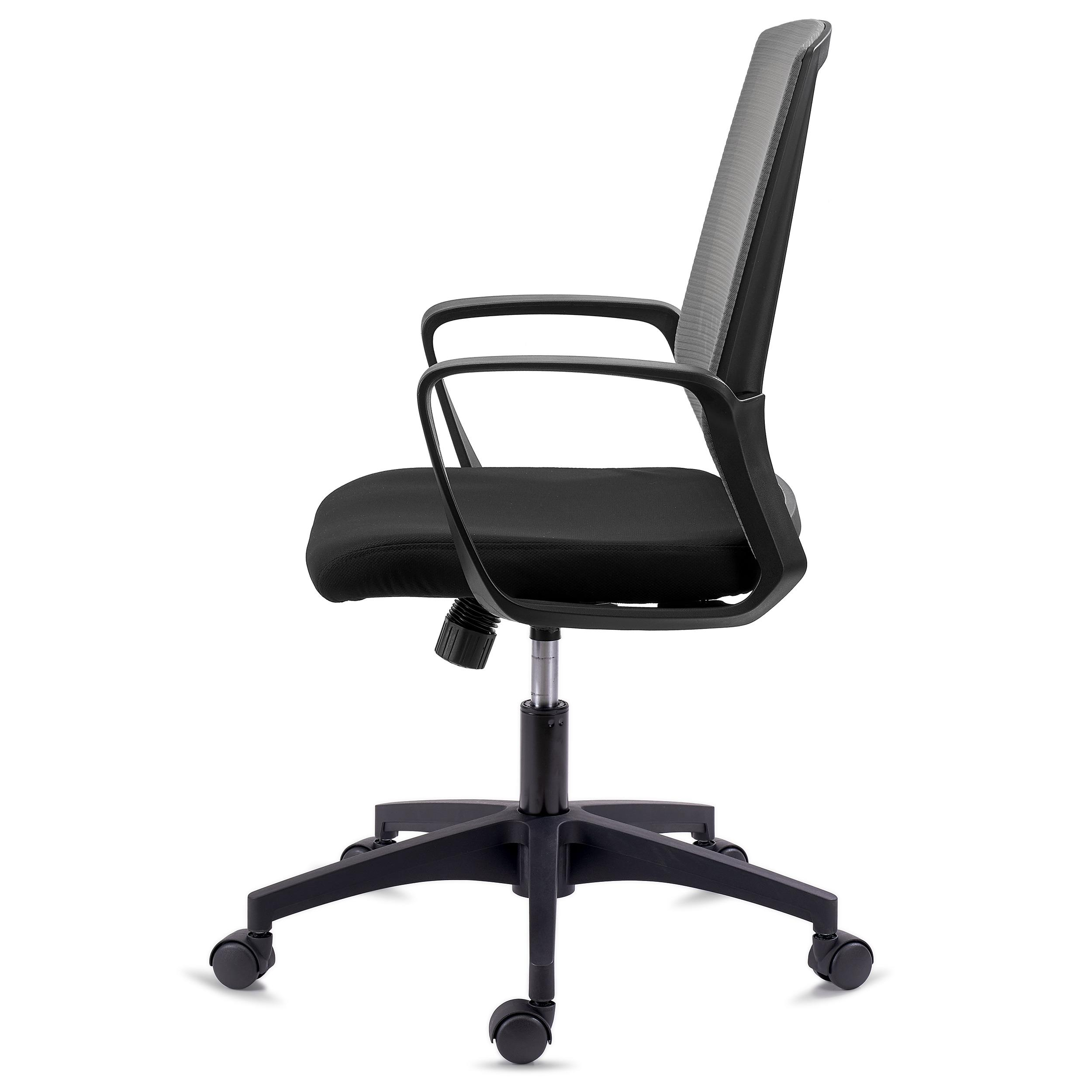 Chaise De Bureau IBIZA Confortable Et Resistante Soutien Lombaire Dossier Basculant Gris