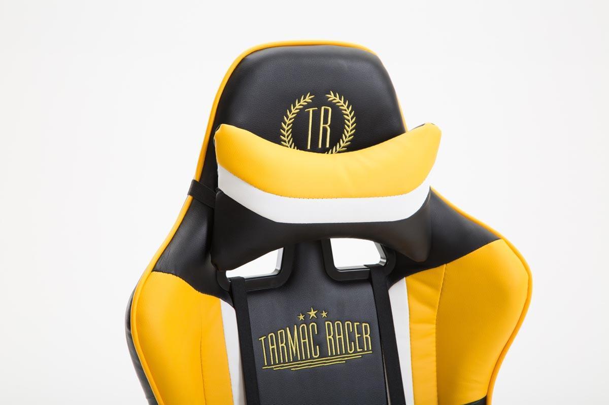 Fauteuil gamer jemex inclinable coussins inclus cuir noir