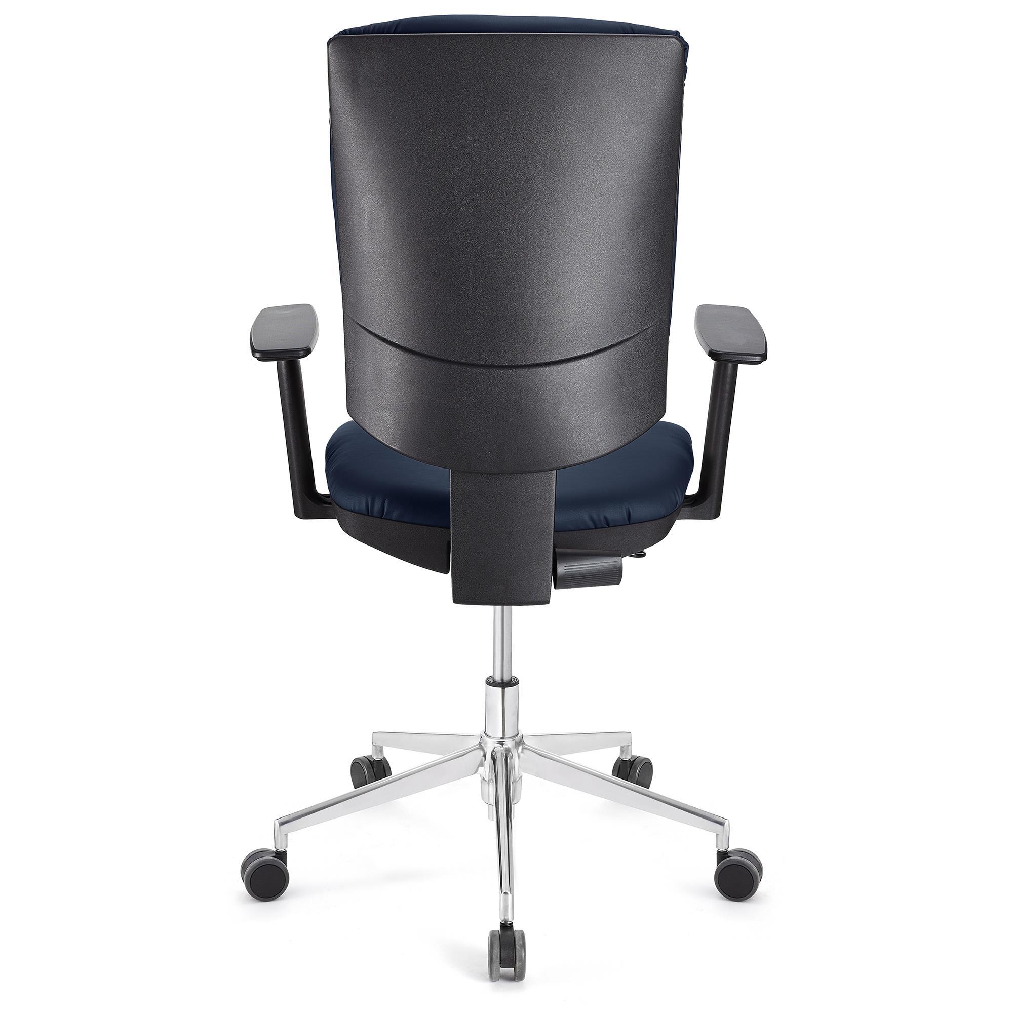 Chaise et PRO de AjustablesPiétement Accoudoirs CUIRDossier métalliqueBleu Bureau ATLAS k0PX8nwO