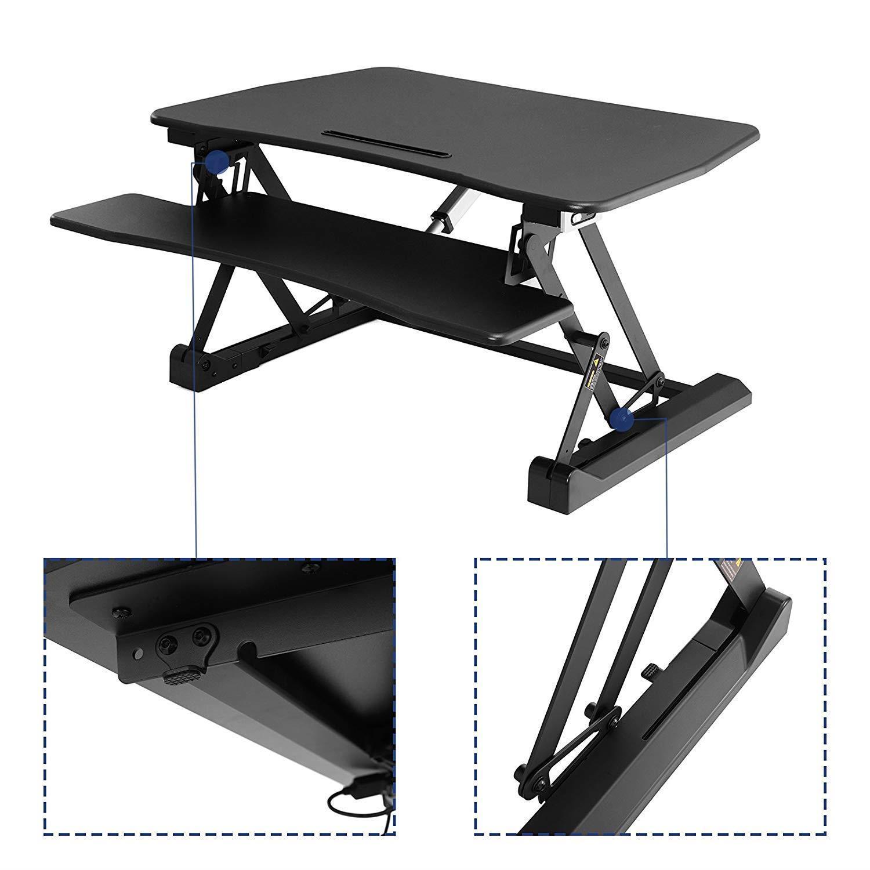 Table de travail isaura hauteur r glable lectriquement - Table de travail reglable en hauteur ...