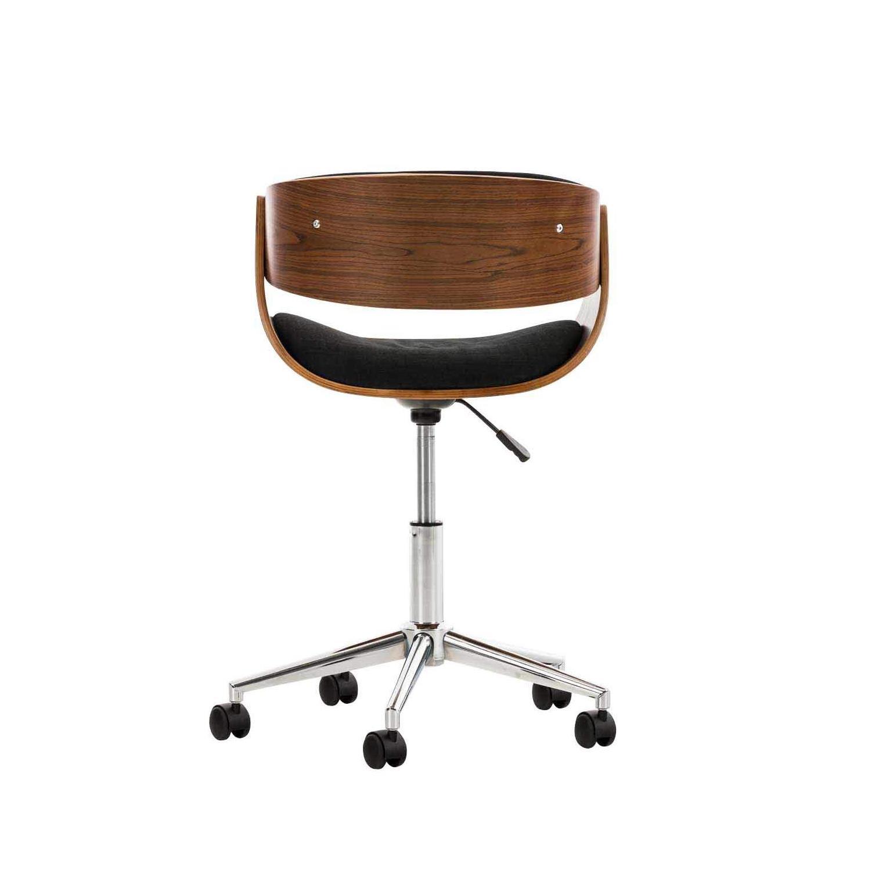 TISSUDesign NoyerTissu Bois ANOUK ModerneStructure design Noir Chaise couleur en F1cTlKJ