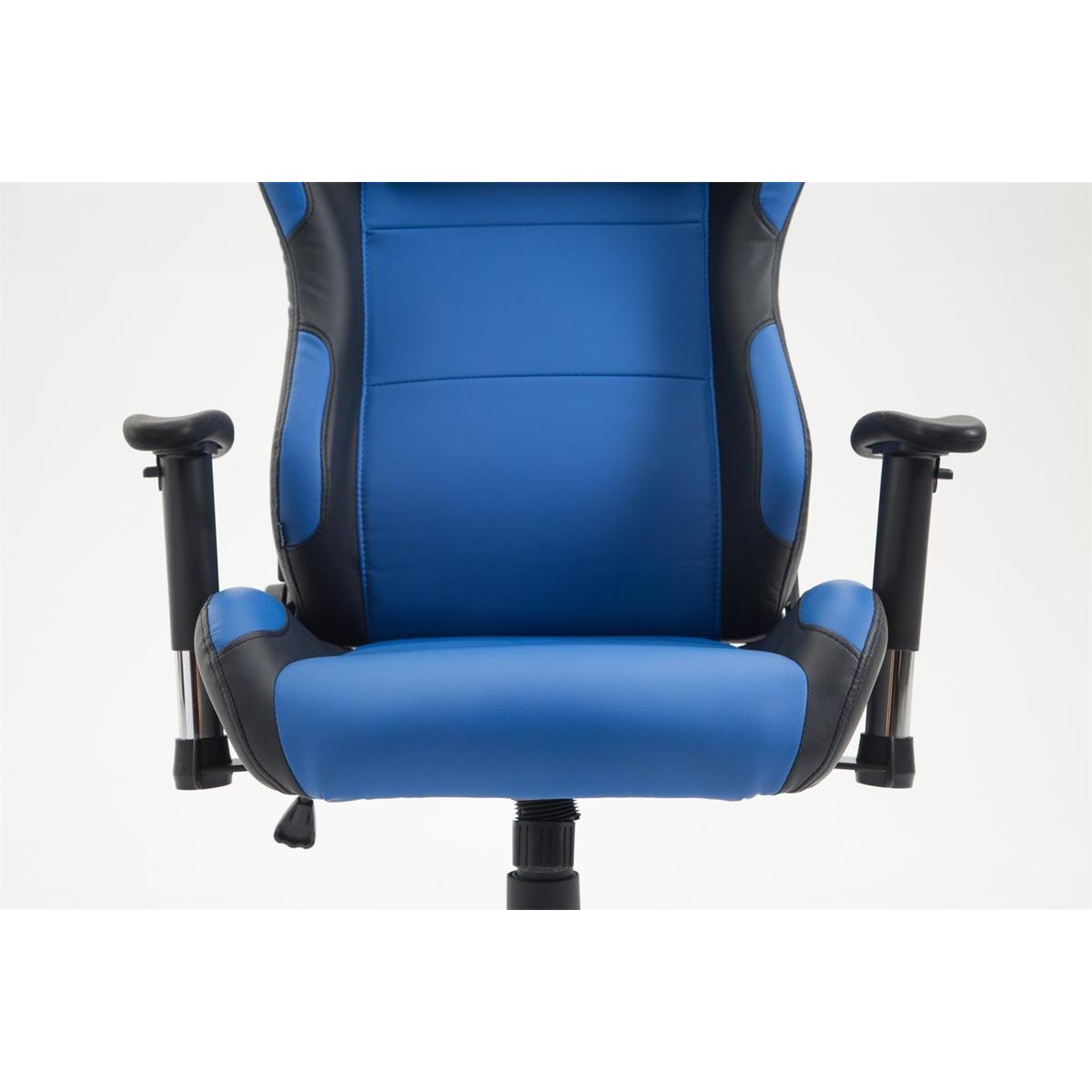 fauteuil gamer roby design sportif et grand confort en cuir bleu fauteuil gamer roby. Black Bedroom Furniture Sets. Home Design Ideas