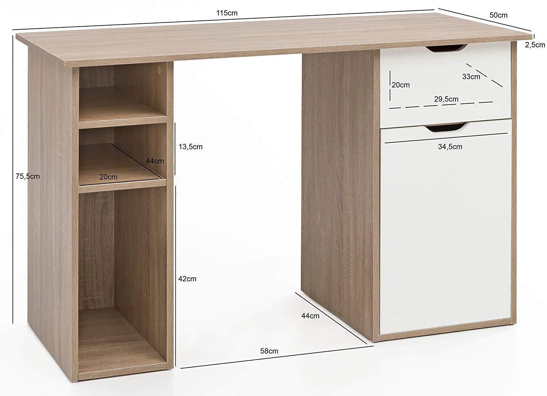 Bureau informatique kaleb dimensions cm en bois
