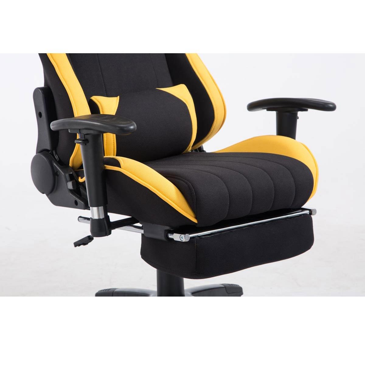 fauteuil gamer turbo tissu avec reposepieds inclinable