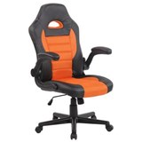 Chaise Gamer LOTUS, accoudoirs relevables,  cuir et maille respirable, orange