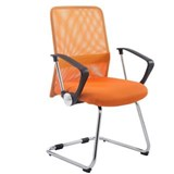 Chaise visiteur ASPEN V, Assise Rembourrée, en Maille Respirable, Orange