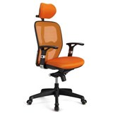 Chaise ergonomique FELIX PRO, Support Lombaire Ajustable, Adapté utilisation 8h, Orange