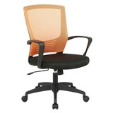 Chaise de Bureau MALIBU, Design moderne et Ergonomique, Maille Respirable, Orange