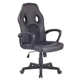 Chaise Gaming XENON, Design Sportif, Confortable, en Cuir, Noir