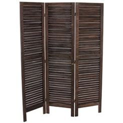 Paravent en Bois LEO 170x138x2cm, Grand design et Style, Marron